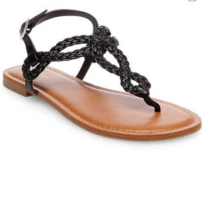 Merona Gladiator Black Braided Sandal - WIDE WIDTH